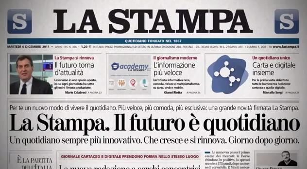 """L'installazione di Viguzzolo (Alessandria) su """"La Stampa"""""""